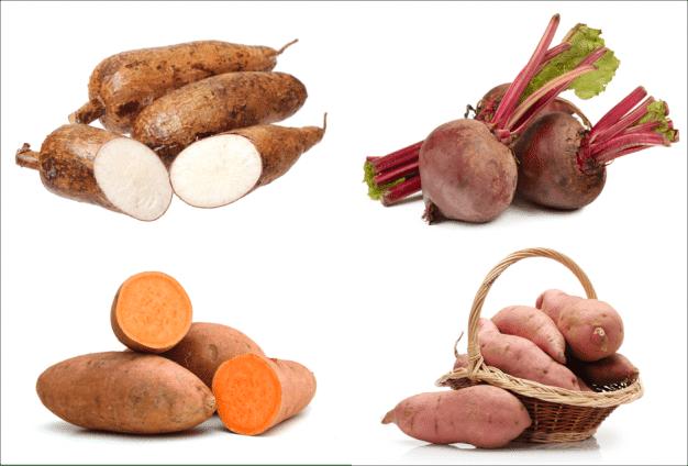 tubérculos alimentos veganos