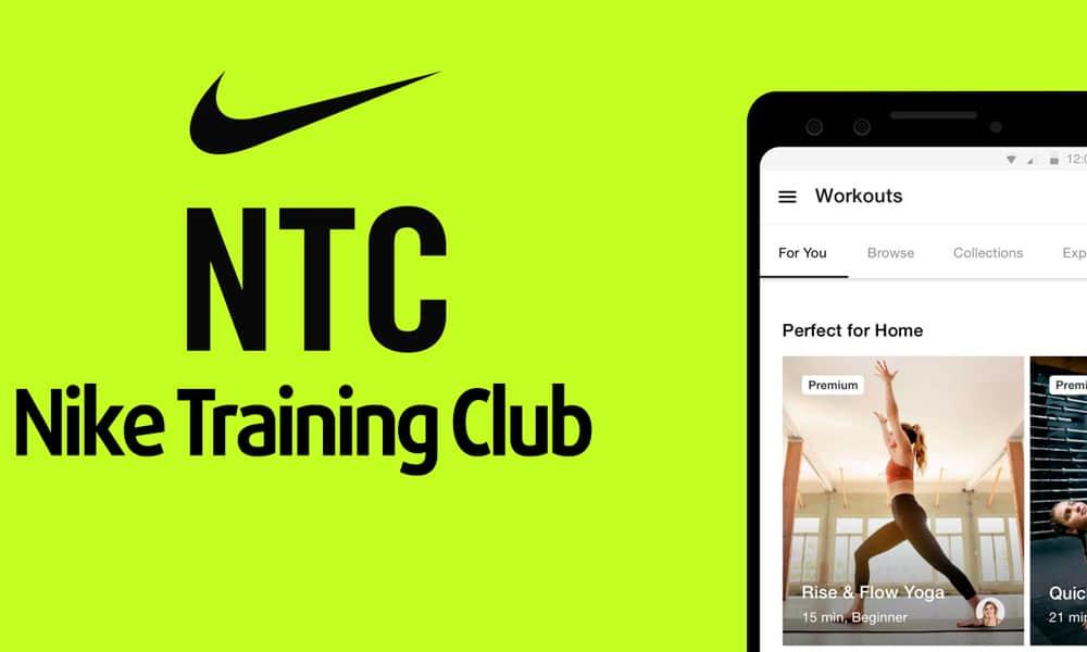 Nike Training Club App para hacer ejercicio